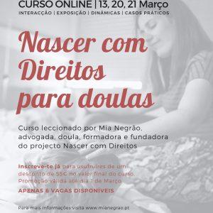 Curso online Nascer com Direitos para doulas | 13, 20, 21 Março